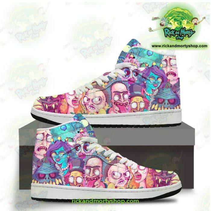 Rick And Morty Watercolor Custom Jordan Sneakers Men / Us6.5 Jd