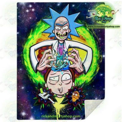 Rick & Morty 3D Funny Microfleece Blanket M Premium - Aop
