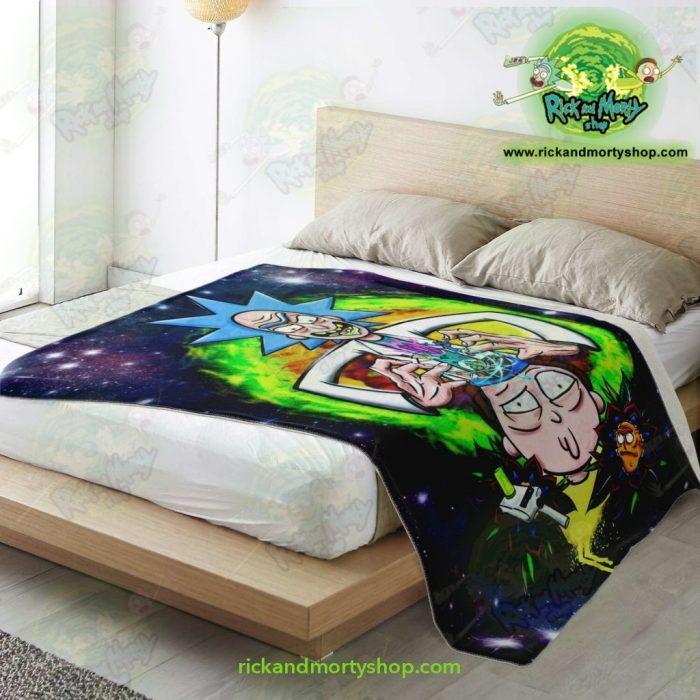 Rick & Morty 3D Funny Microfleece Blanket Premium - Aop
