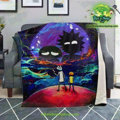 Rick & Morty 3D Galaxy Microfleece Blanket Premium - Aop