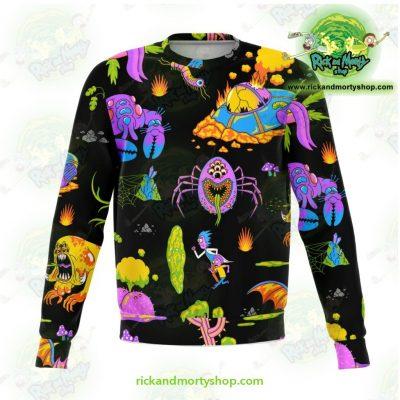 Rick & Morty Alien 3D Sweatshirt Xs Athletic - Aop