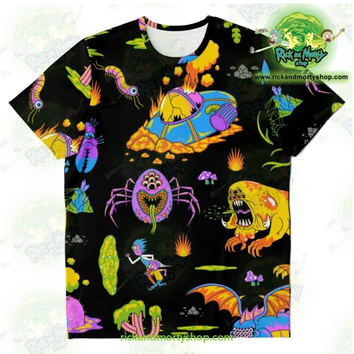 Rick & Morty Alien 3D T-Shirt Xs