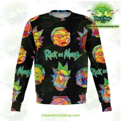 Rick & Morty Alien Face 3D Sweatshirt Xs Athletic - Aop