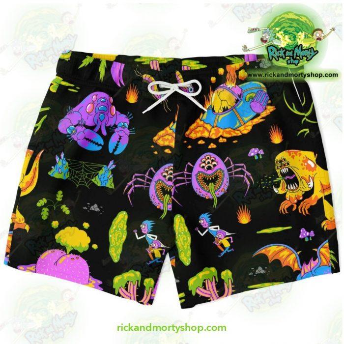 Rick & Morty Alien Swim Trunk Xs Trunks Men - Aop
