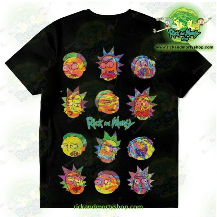 Rick & Morty Colorfull Face T-Shirt T-Shirt