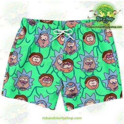 Rick & Morty Facial Expression Swim Trunk Xs Trunks Men - Aop