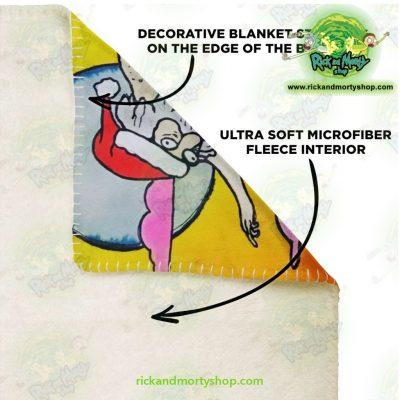 Rick & Morty Funny Character Microfleece Blanket Premium - Aop