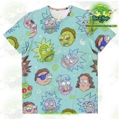 Rick & Morty Funny Face T-Shirt Xs