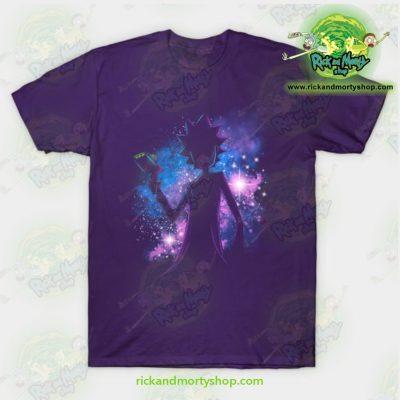 Rick & Morty Galaxy T-Shirt Purple / S T-Shirt
