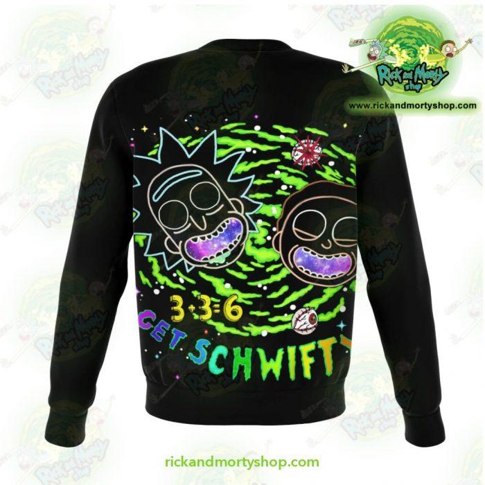 Rick & Morty Get Schwift 3D Sweatshirt Xs Athletic - Aop