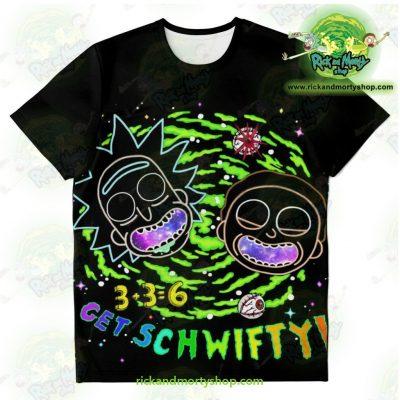 Rick & Morty Get Schwifty 3D T-Shirt Xs