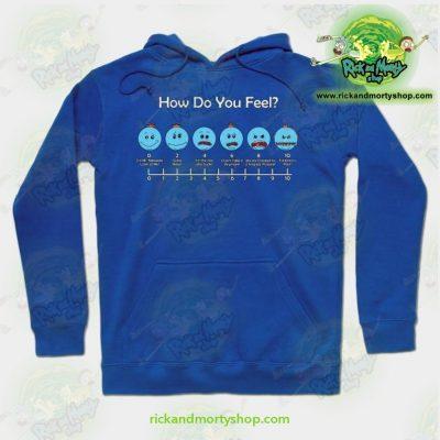 Rick & Morty Hoodie - How Do You Feel Meeseeks Blue / S Athletic Aop