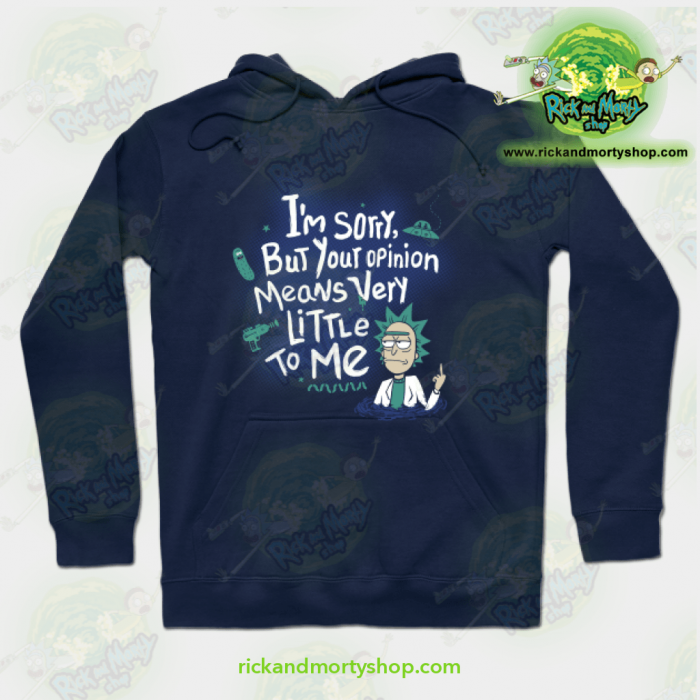 Rick & Morty Hoodie - I Am Sorry Navy Blue / S Athletic Aop