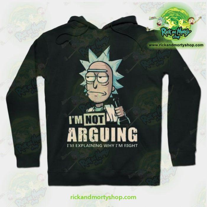 Rick & Morty Hoodie - Im Not Arguing Black / S Athletic Aop