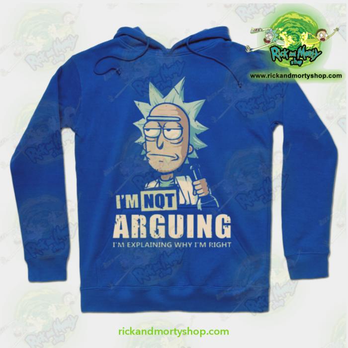 Rick & Morty Hoodie - Im Not Arguing Blue / S Athletic Aop