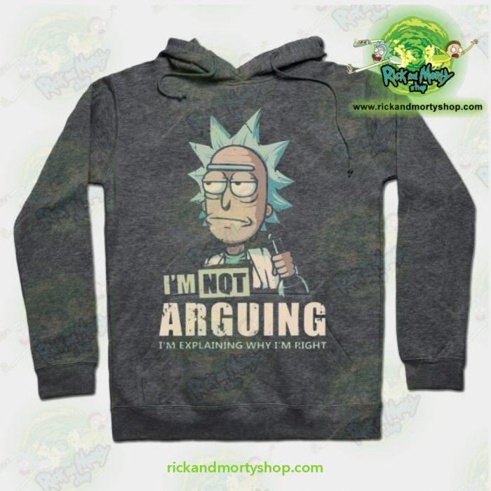 Rick & Morty Hoodie - Im Not Arguing Grey / S Athletic Aop