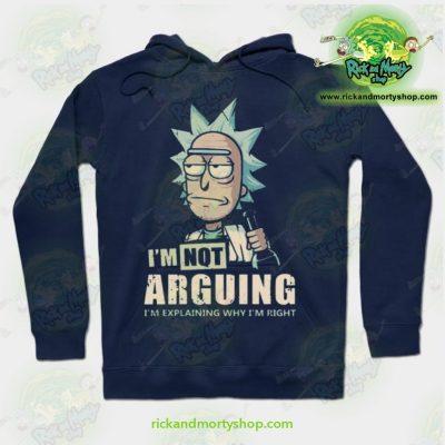 Rick & Morty Hoodie - Im Not Arguing Navy Blue / S Athletic Aop
