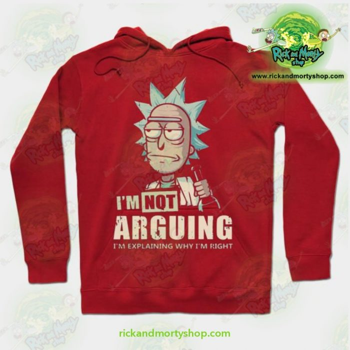 Rick & Morty Hoodie - Im Not Arguing Red / S Athletic Aop