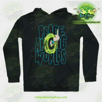 Rick & Morty Hoodie - Peace Among Worlds Black / S Athletic Aop