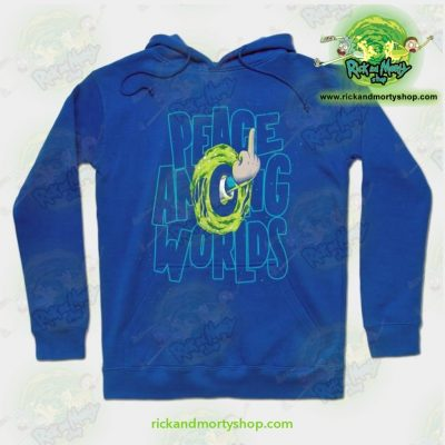 Rick & Morty Hoodie - Peace Among Worlds Blue / S Athletic Aop