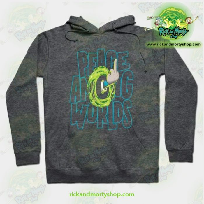 Rick & Morty Hoodie - Peace Among Worlds Grey / S Athletic Aop