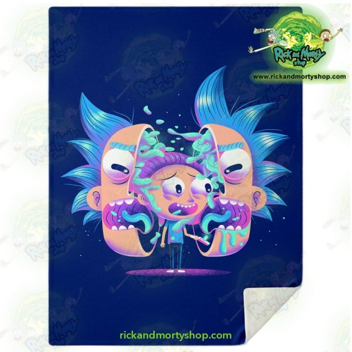 Rick & Morty Horror Microfleece Blanket M Premium - Aop