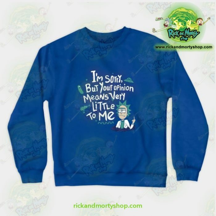 Rick & Morty - I Am Sorry Crewneck Sweatshirt Blue / S Athletic Aop