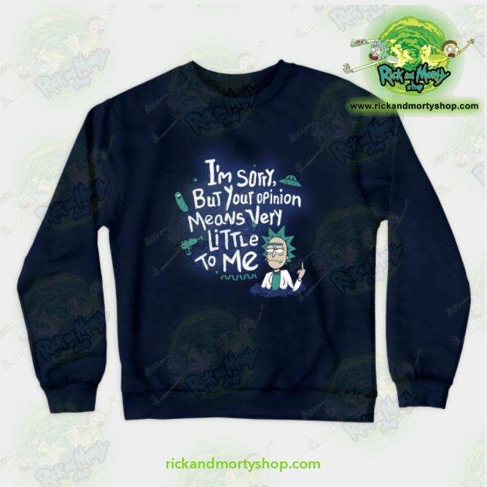 Rick & Morty - I Am Sorry Crewneck Sweatshirt Navy / S Athletic Aop