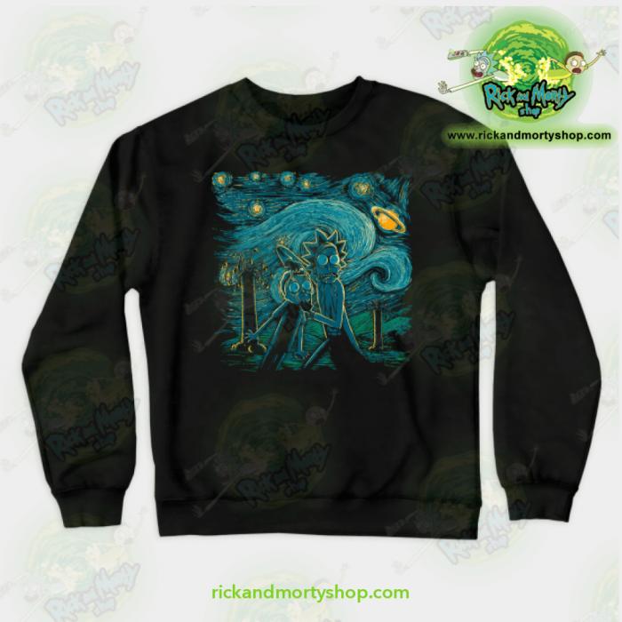 Rick & Morty Impressionist Science Sweatshirt Black / S Athletic - Aop