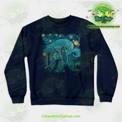 Rick & Morty Impressionist Science Sweatshirt Navy / S Athletic - Aop