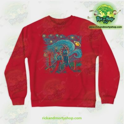 Rick & Morty Impressionist Science Sweatshirt Red / S Athletic - Aop