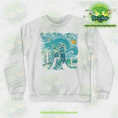 Rick & Morty Impressionist Science Sweatshirt White / S Athletic - Aop