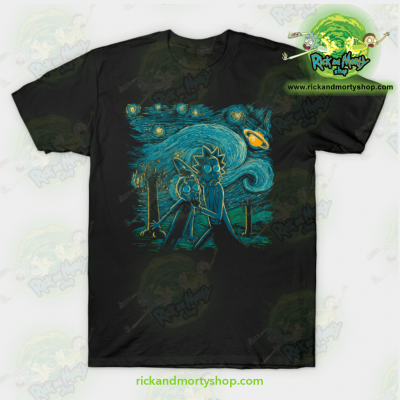 Rick & Morty Impressionist Science T-Shirt Black / S T-Shirt