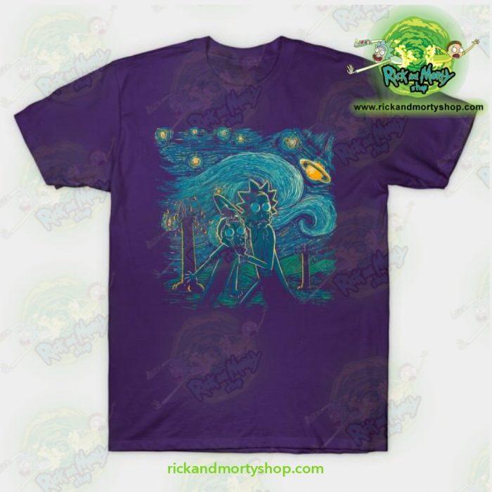 Rick & Morty Impressionist Science T-Shirt Blue / S T-Shirt