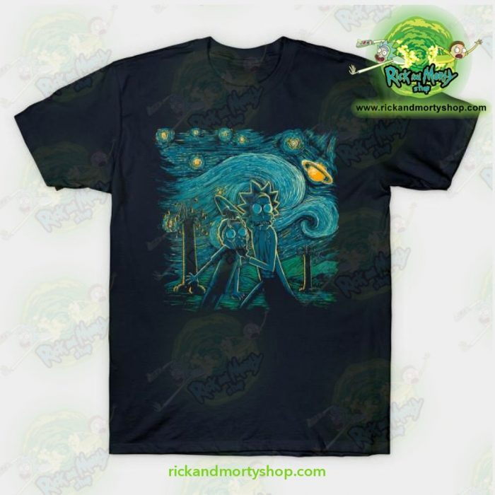 Rick & Morty Impressionist Science T-Shirt Navy / S T-Shirt