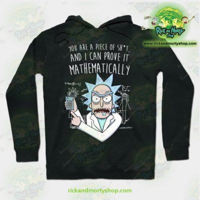 Rick & Morty Mathematically Hoodie Black / S Athletic - Aop