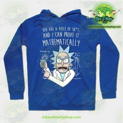 Rick & Morty Mathematically Hoodie Blue / S Athletic - Aop