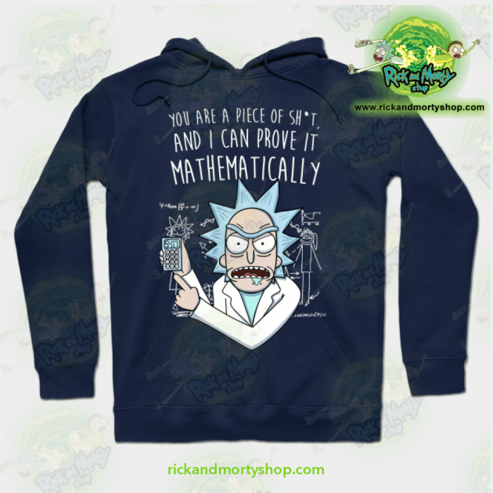 Rick & Morty Mathematically Hoodie Navy Blue / S Athletic - Aop