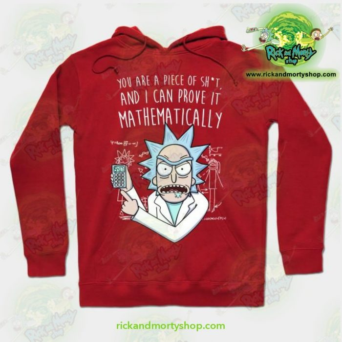 Rick & Morty Mathematically Hoodie Red / S Athletic - Aop