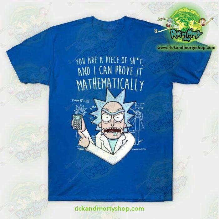 Rick & Morty Mathematically T-Shirt Blue / S T-Shirt