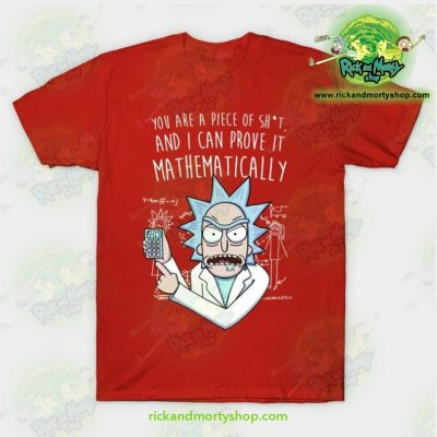 Rick & Morty Mathematically T-Shirt Red / S T-Shirt