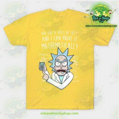 Rick & Morty Mathematically T-Shirt Yellow / S T-Shirt