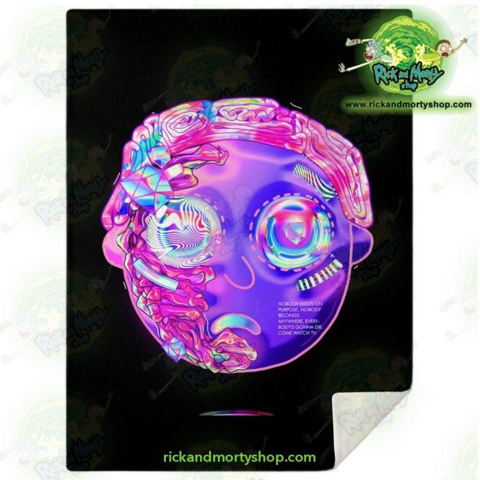 Rick & Morty Microfleece Blanket - 3D Mortys Face Diamond M Premium Aop