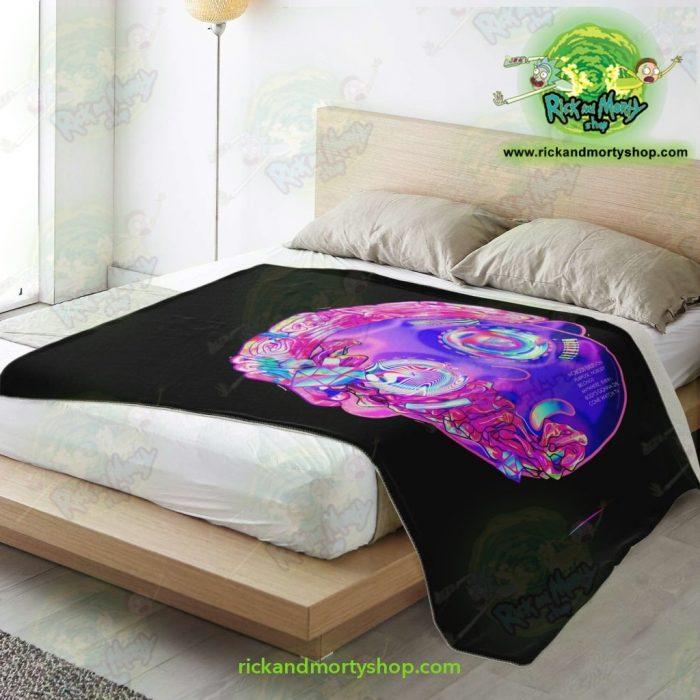 Rick & Morty Microfleece Blanket - 3D Mortys Face Diamond Premium Aop