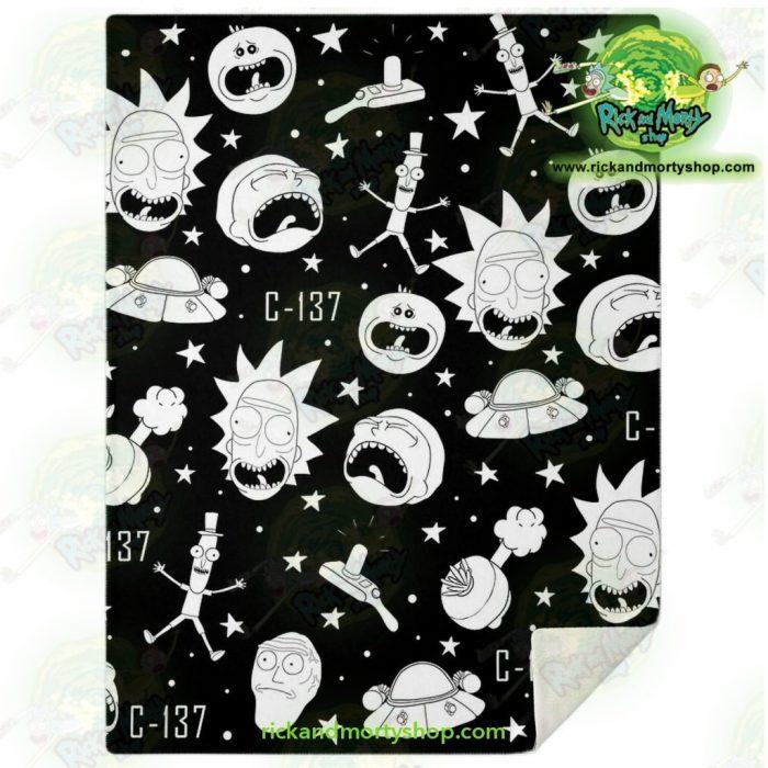 Rick & Morty Microfleece Blanket Crazy C137 M Premium - Aop