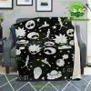 Rick & Morty Microfleece Blanket Crazy C137 Premium - Aop