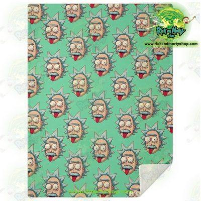 Rick & Morty Microfleece Blanket - Funny Face Sanchez M Premium Aop
