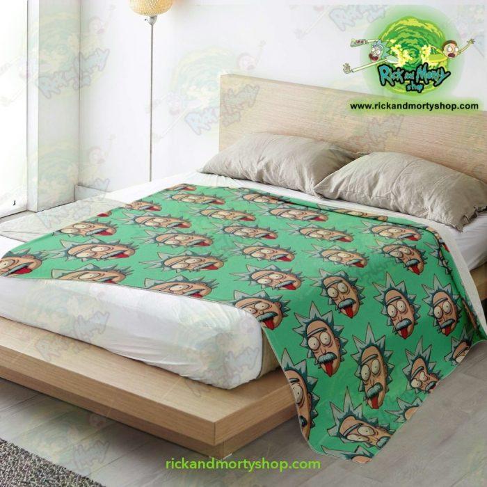 Rick & Morty Microfleece Blanket - Funny Face Sanchez Premium Aop