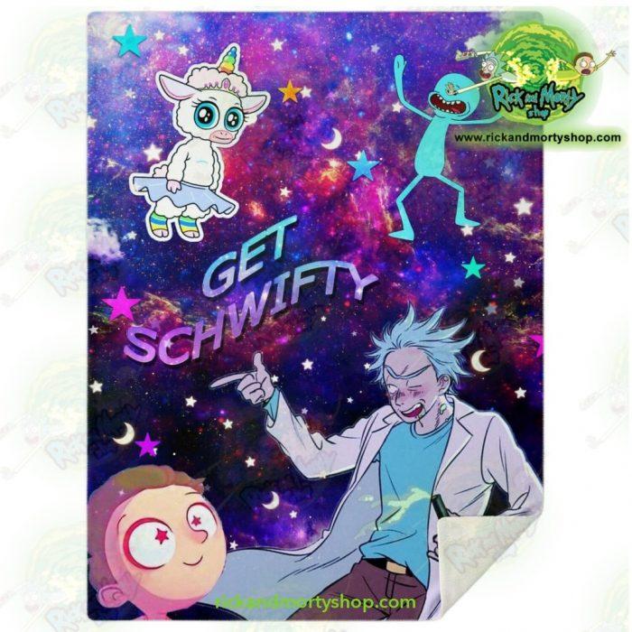 Rick & Morty Microfleece Blanket - Get Schwifty 3D Galaxy M Premium Aop