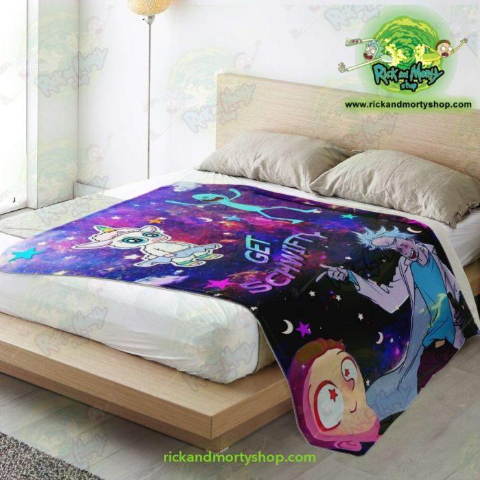 Rick & Morty Microfleece Blanket - Get Schwifty 3D Galaxy Premium Aop
